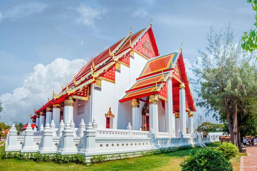Thailand Ayutthaya Wihan Phra Mongkhol Bophit tempel