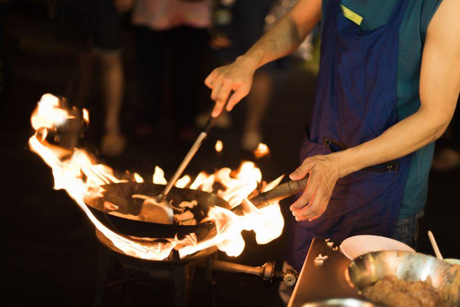 Thailand Bangkok Bereiding van eten