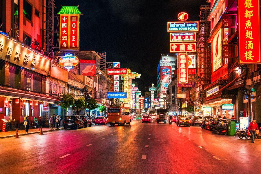 Thailand Bangkok Chinatown streetview