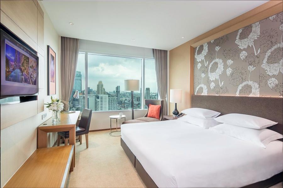Thailand Bangkok Eastin Grand Hotel Sathorn Exe Superior Sky Room Kingsize Bed kamer