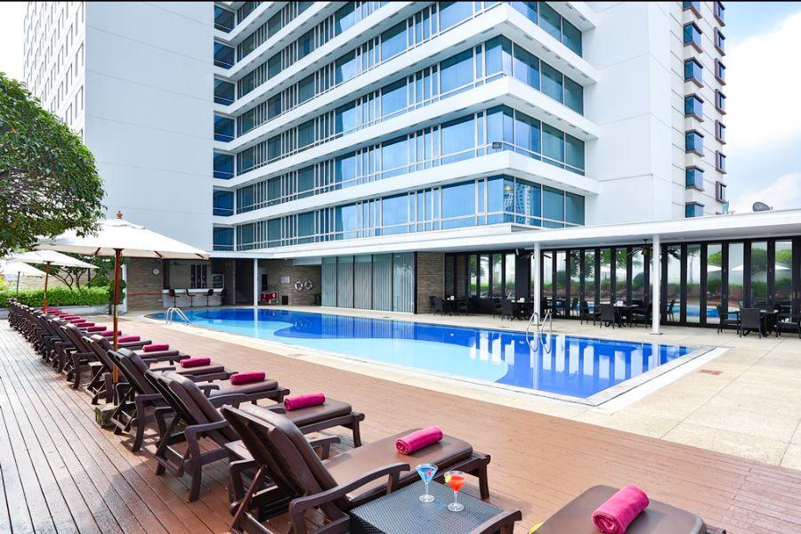 Thailand Bangkok Eastin Hotel Makkasan Bangkok zwembad