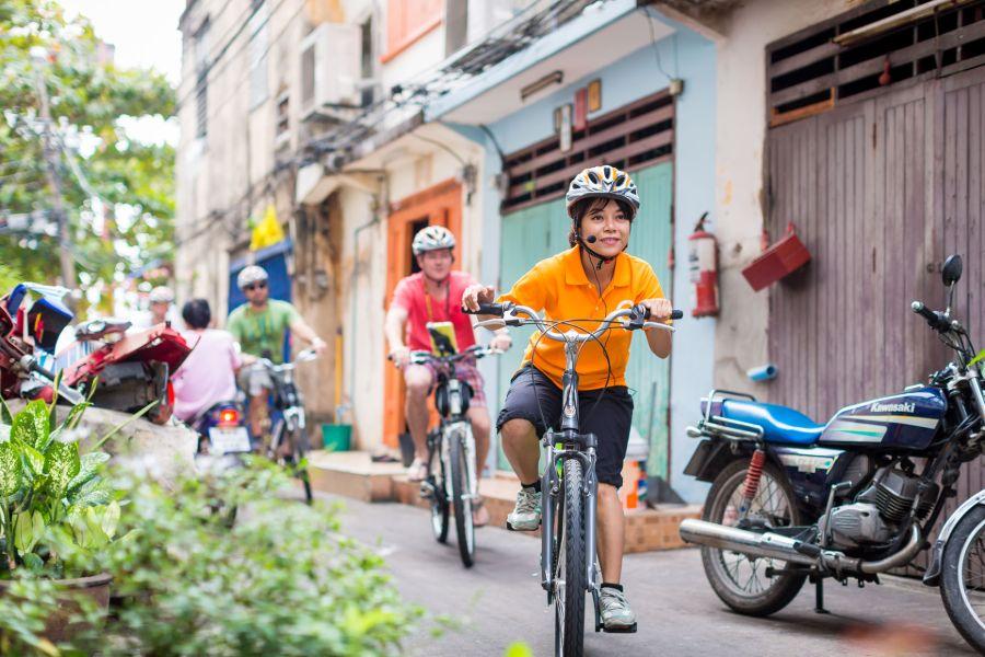 Thailand Bangkok Go Red Fietstour fietsen gids
