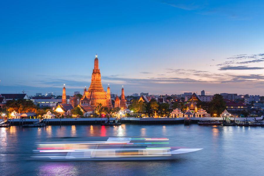 Thailand Bangkok Grand Palace by night