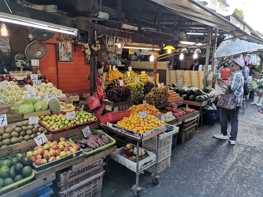 Thailand Bangkok Khlong Toei markt