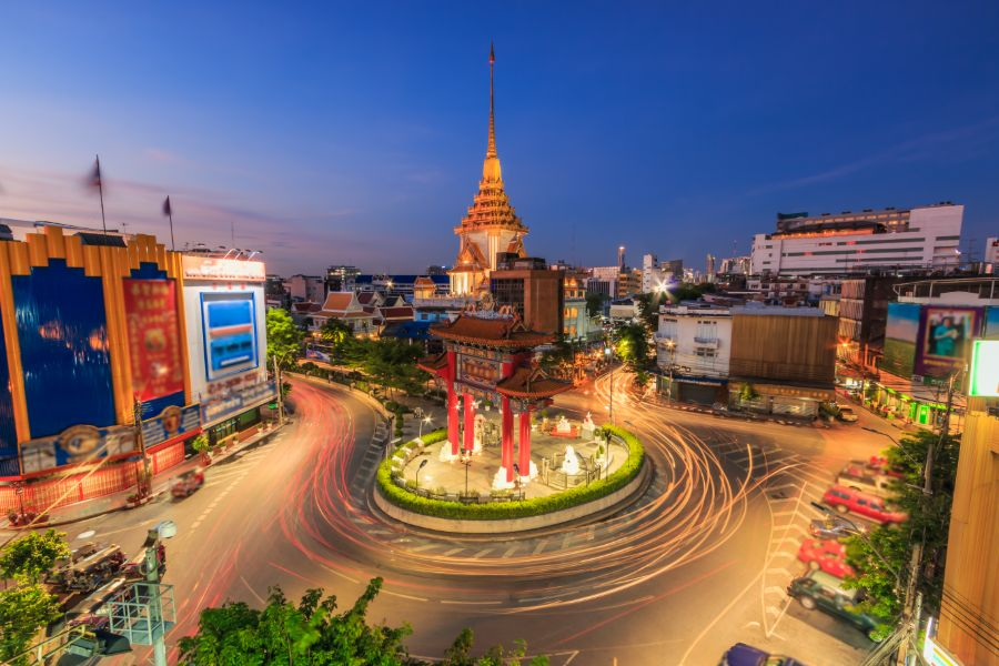 Thailand Bangkok Odeon Circle Chinatown