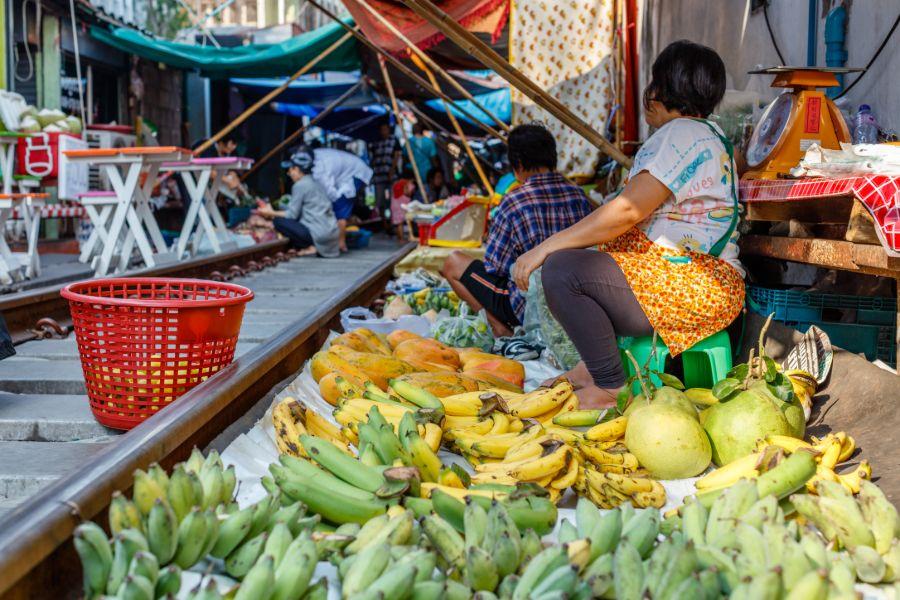 Thailand Bangkok Treinmarkt