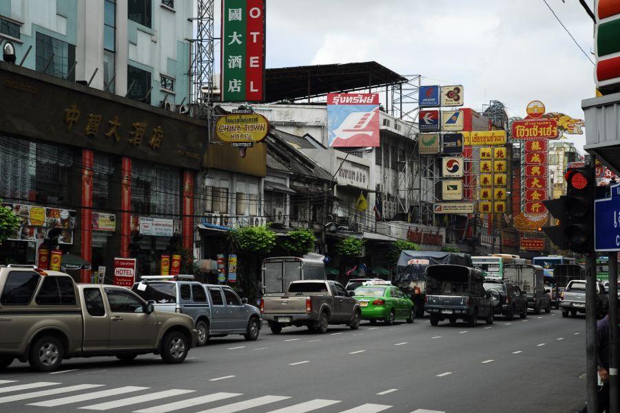 Thailand Bangkok Verkeer in Chinatown