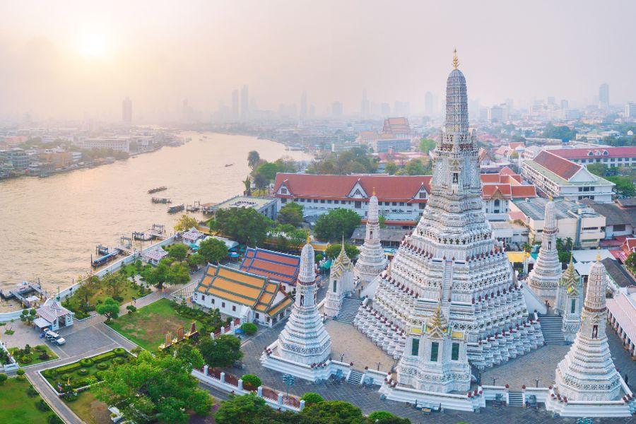 Thailand Bangkok Wat Arun Chao Phraya rivier