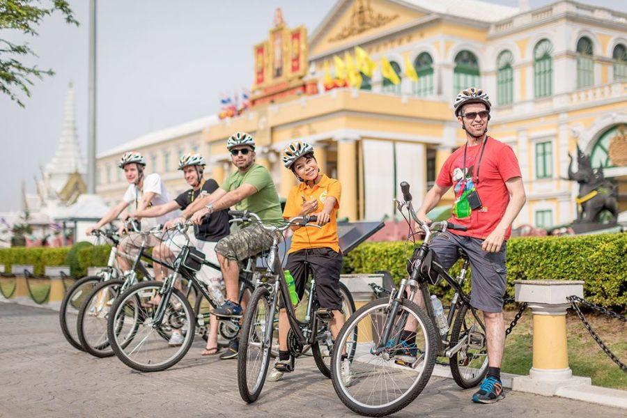 Thailand Bangkok fietsen excursie Go Red