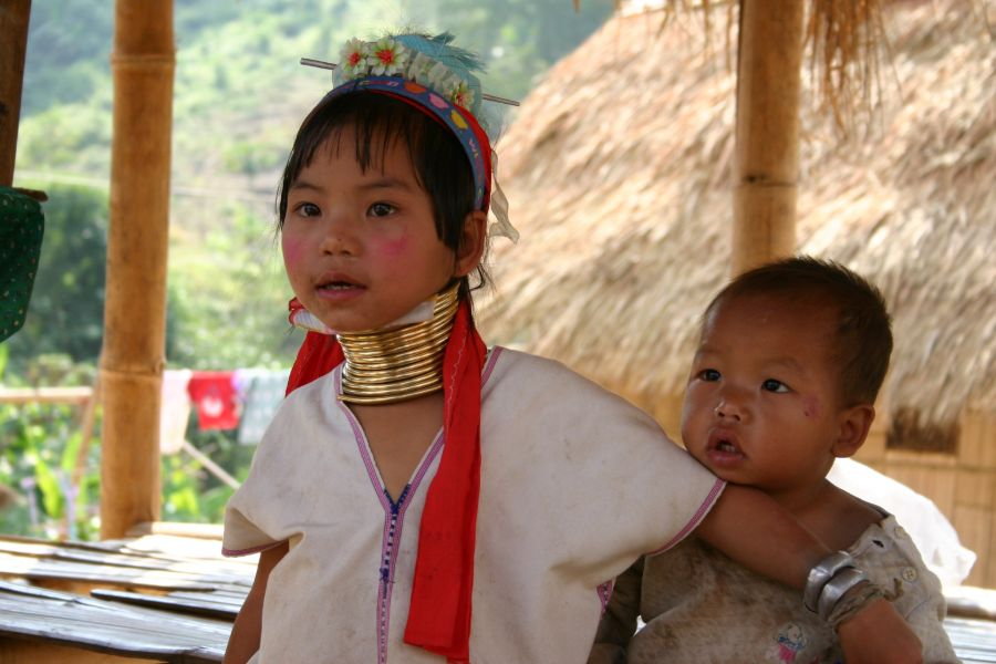 Thailand Bergvolken Langnek stam