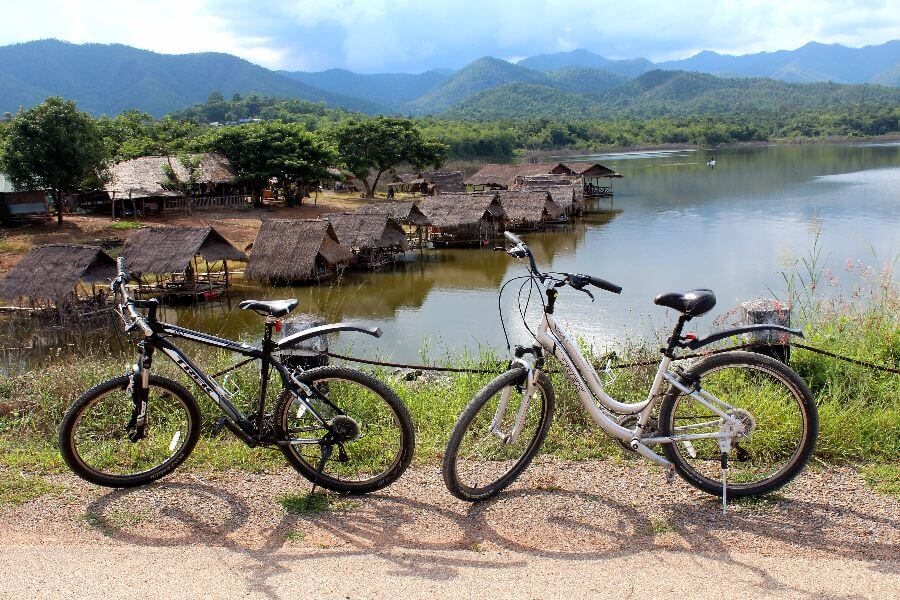 Thailand Chiang Mai Fietstour Fietsen water
