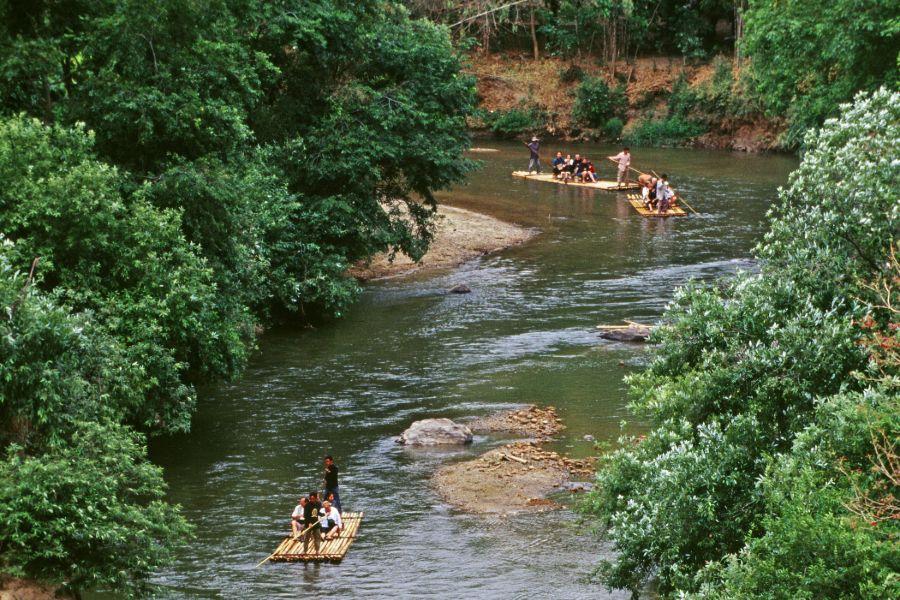 Thailand Chiang Mai raften bamboeraft jungle rivier 3 1