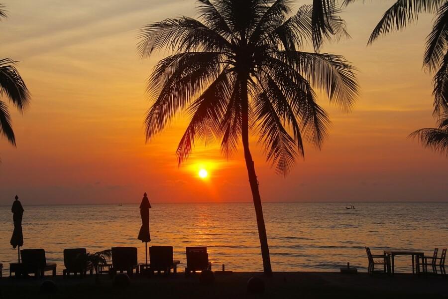 Thailand Hua Hin Zonsondergang