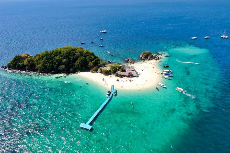 Thailand Koh Khai Nai Island Phang Nga provincie Andaman Sea bovenaanzicht tropisch strand eiland