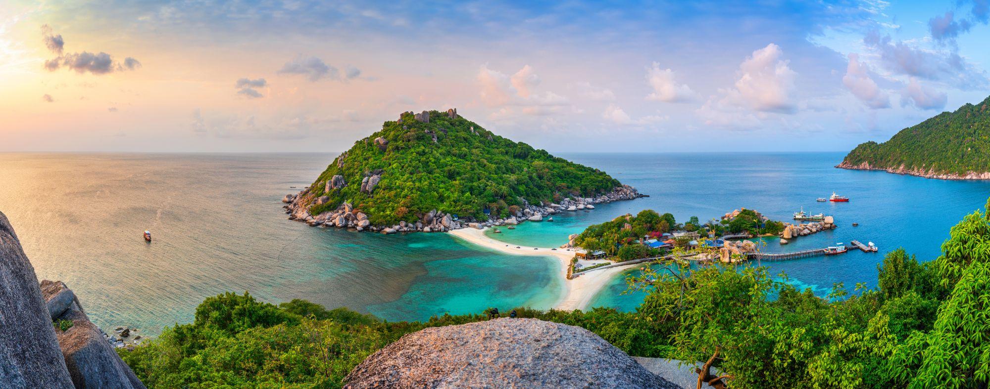Thailand Koh Nang Yuan Koh Tao uitzichtpunt