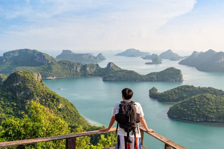 Thailand Koh Samui Ang Thong National Marine Park eiland landschap uitzichtpunt