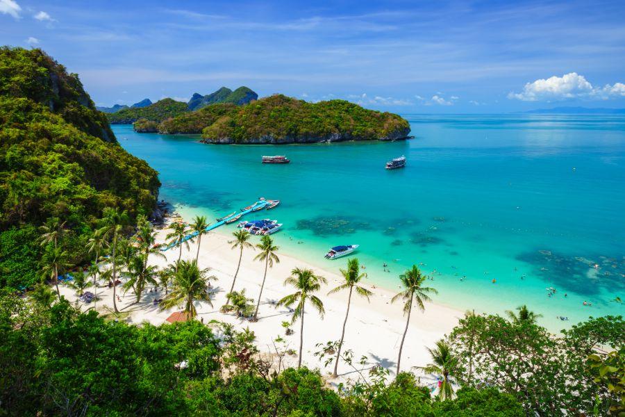 Thailand Koh Samui Ang Thong National Marine Park strand eiland boten