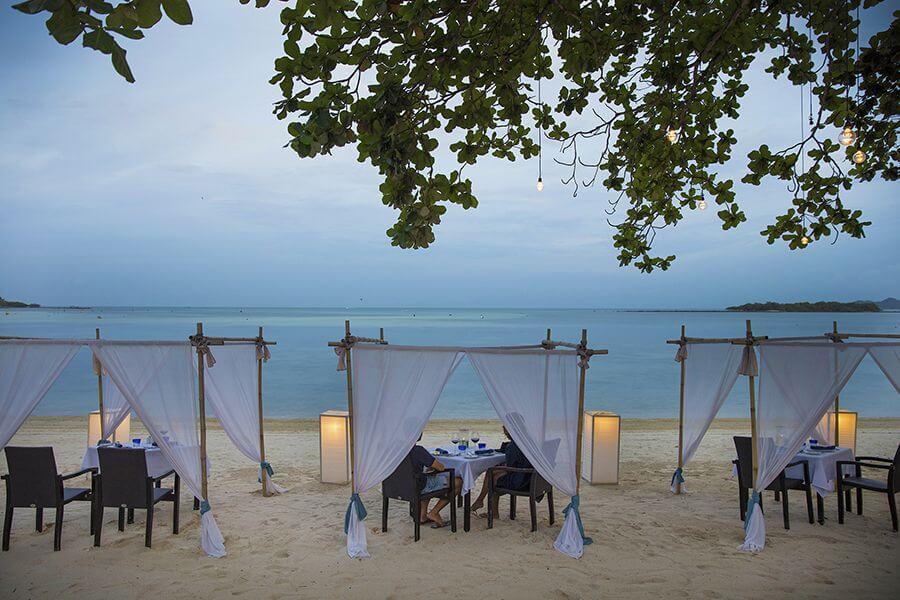 Thailand Koh Samui Eten op het strand dineren Chaweng Beach