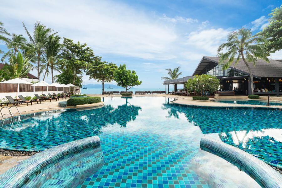 Thailand Koh Samui Hotel Peace Resort Koh Samui Zwembad