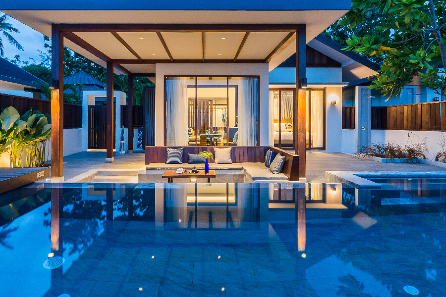 Thailand Koh Samui Peace Resort Koh Samui Prive zwembad deluxe plunge rooms suite
