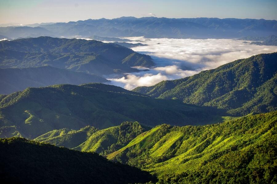 Thailand Nan omgeving natuur bergen uitzicht