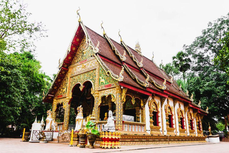 Thailand Nan provincie Pua What Phuket tempel