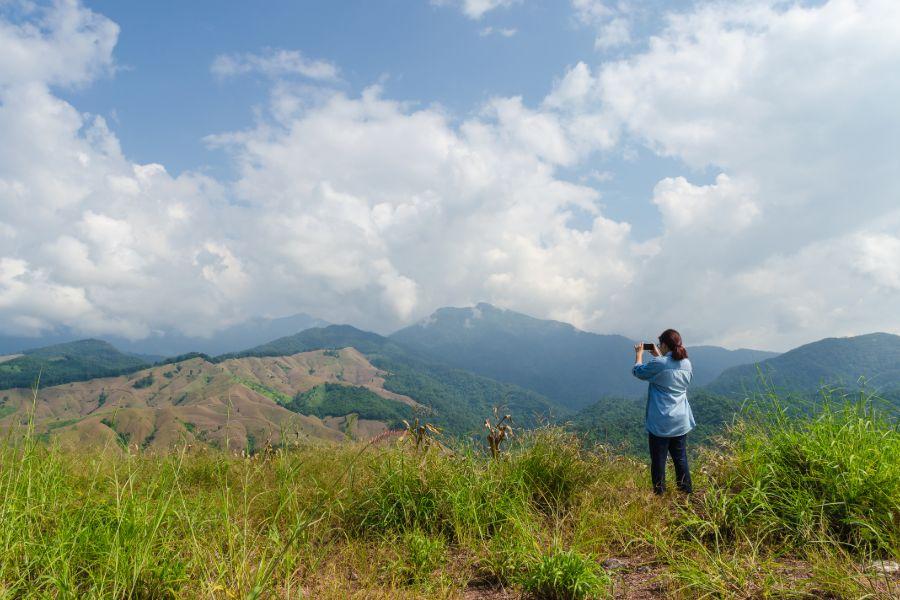 Thailand Nan provincie uitzicht natuur bergen