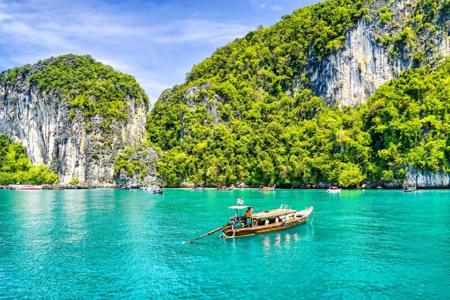 Thailand Phuket Azuurblauwe zee