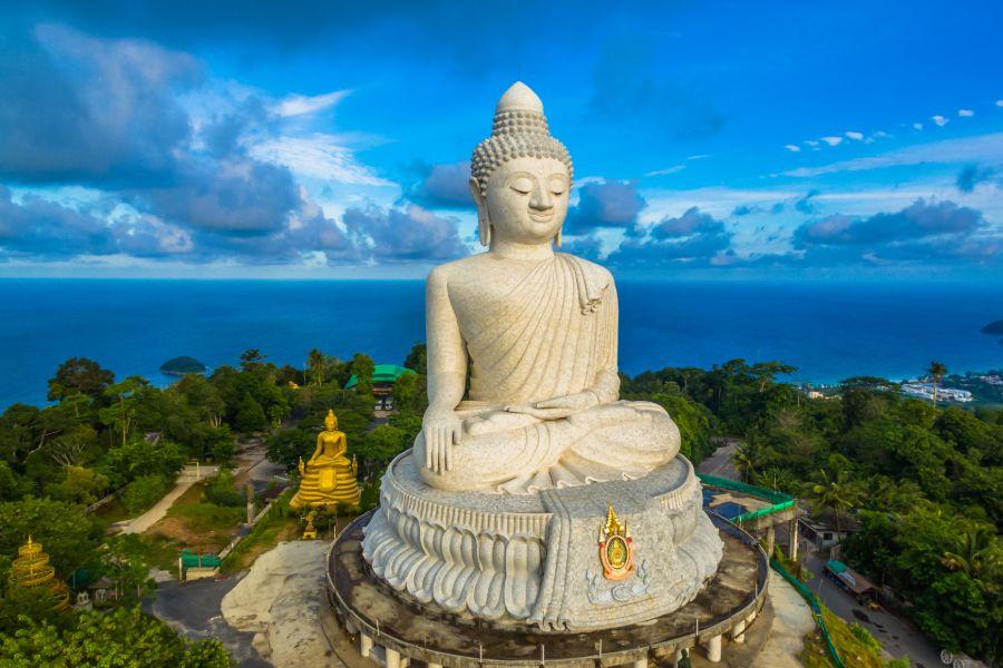 Thailand Phuket eiland Big Buddha grote boedha bezienswaardigheden