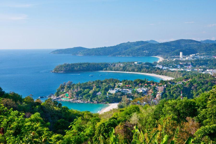 Thailand Phuket eiland strand Patong View Point uitzicht bovenaanzicht landschap