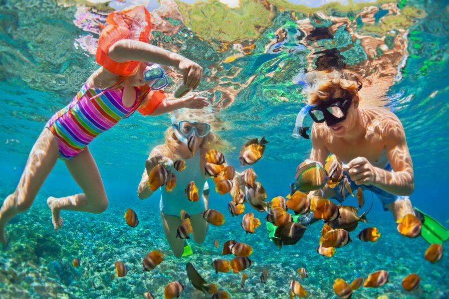Thailand general Familie snorkelen