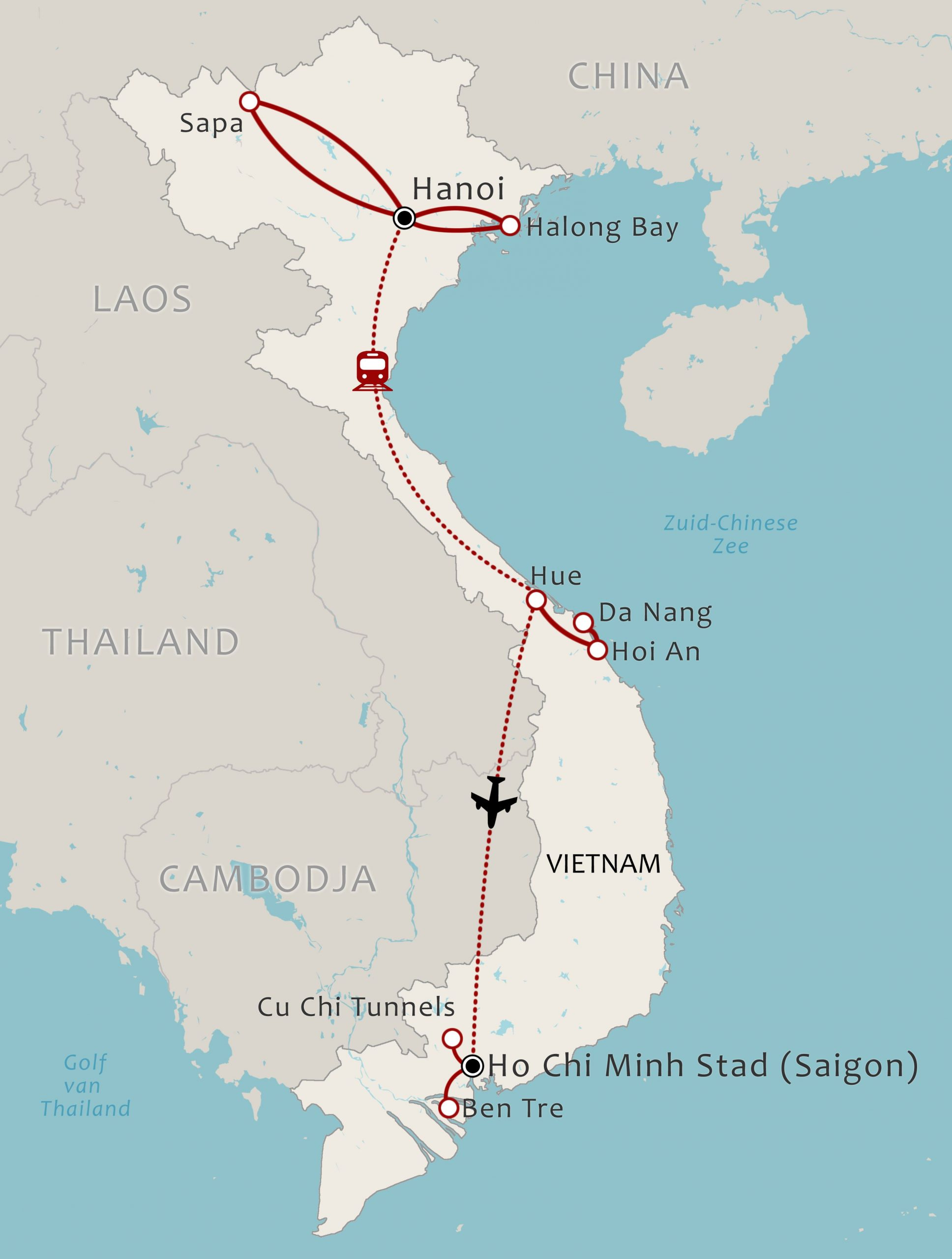 Vietnam Map 15 Daagse rondreis dwars door Vietnam via Sapa