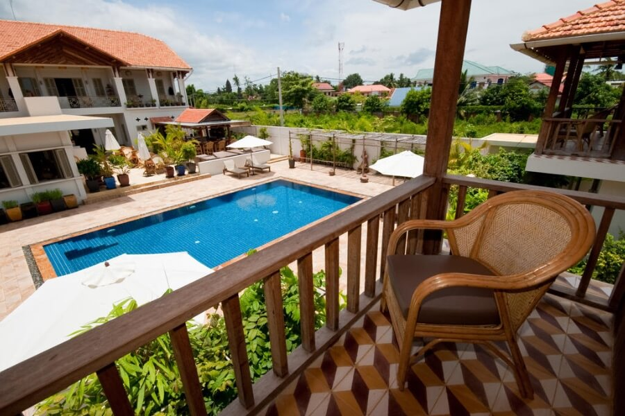 Cambodja Battambang Bambu Hotel 7