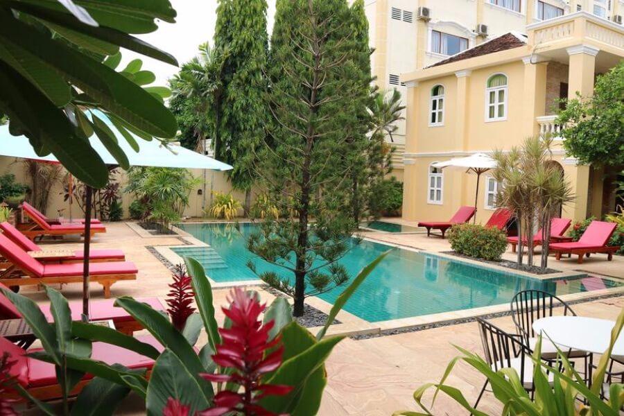 Cambodja Battambang La Villa Hotel 16