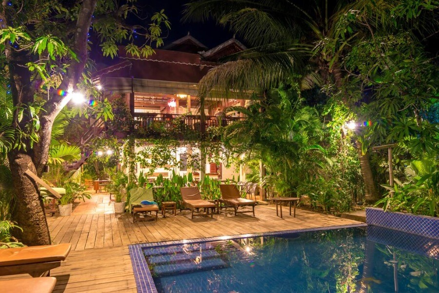 Cambodja Kampong Thom Sambor Village Hotel 1