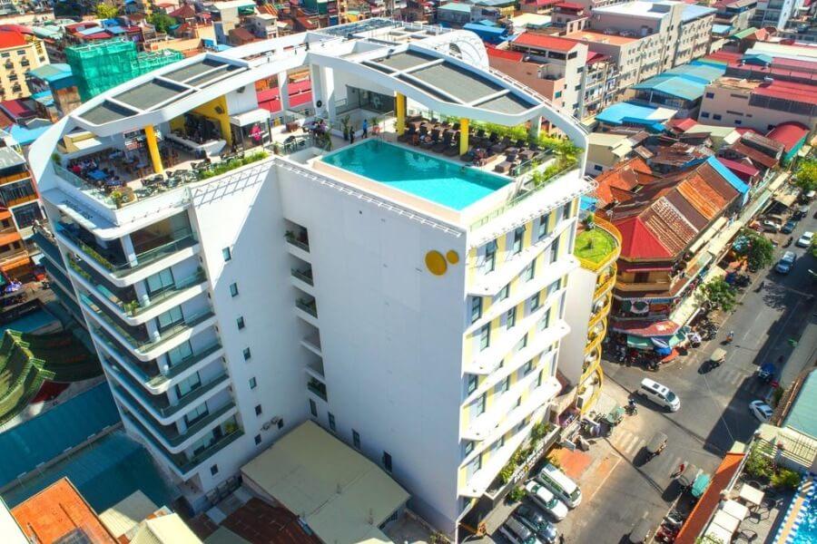 Cambodja Phnom Penh Sun Moon Urban Hotel 17