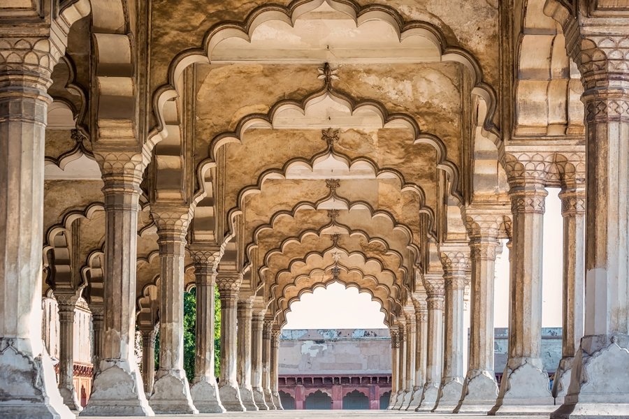 India Agra Red Fort Unesco Werelderfgoed