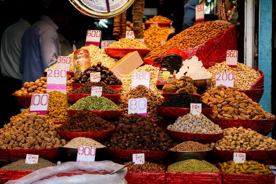 India Old Delhi Dry Fruits Market Chandni Chowk