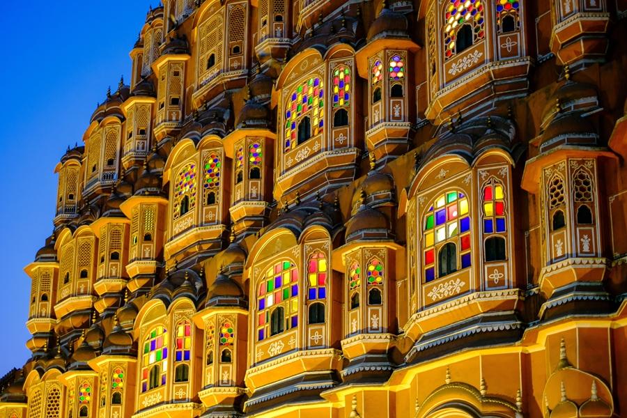 India Rajasthan Jaipur The Hawa Mahal palace