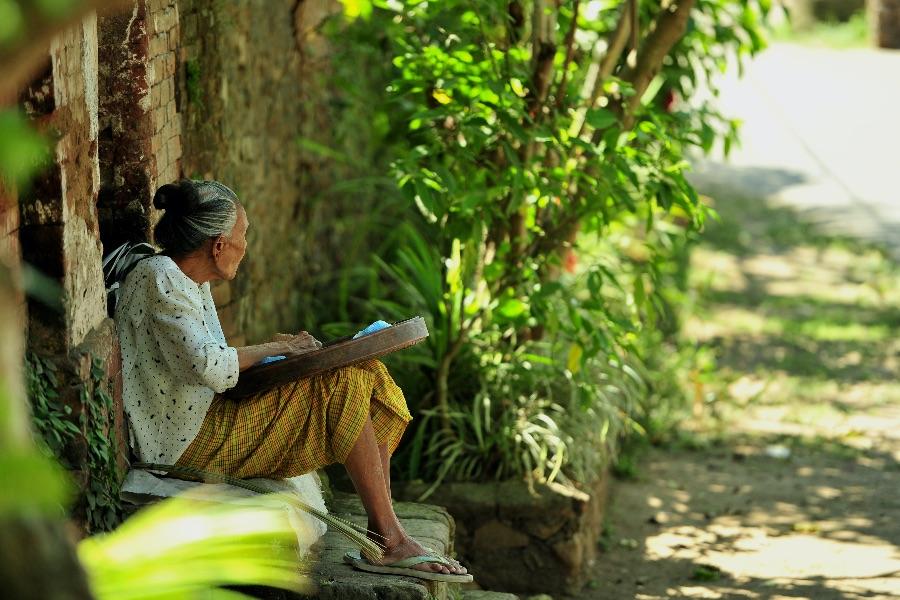 Indonesie Bali Bali Aga drop lokale bevolking