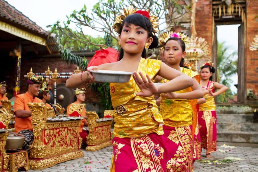Indonesie Bali Danseressen