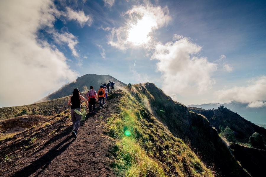 Indonesie Bali Hiking naar de Batur vulkaan