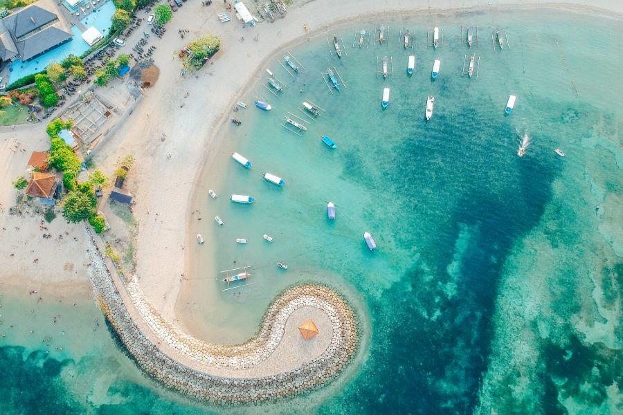 Indonesie Bali Sanur bootjes