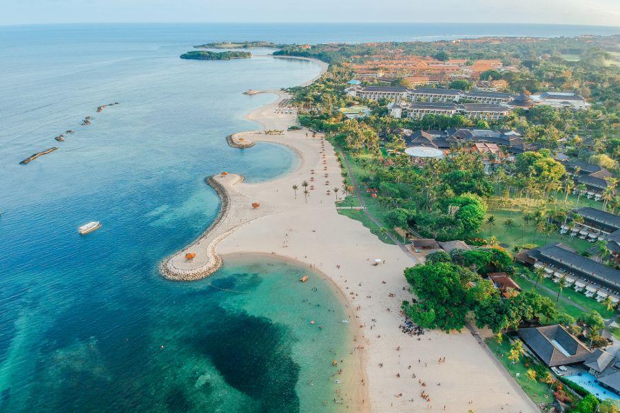 Indonesie Bali Sanur luchtfoto