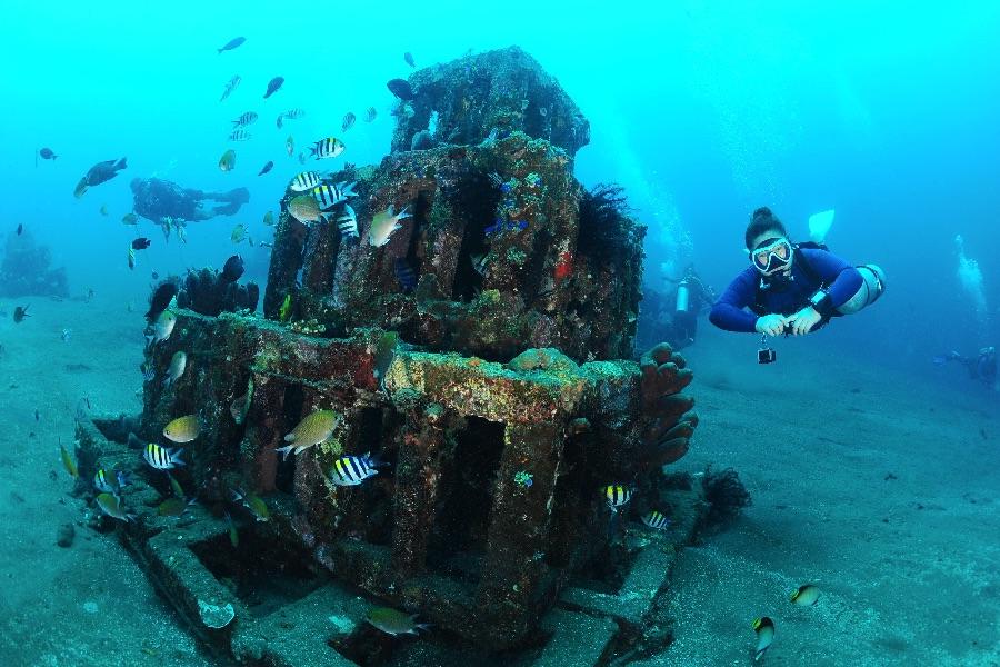 Indonesie Bali Tulamben Snorkelen