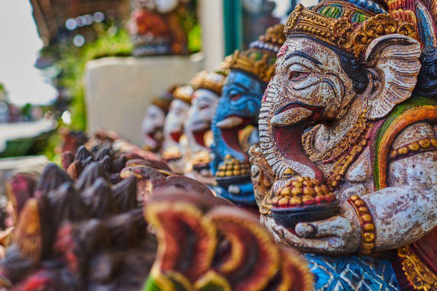 Indonesie Bali Ubud beeldjes