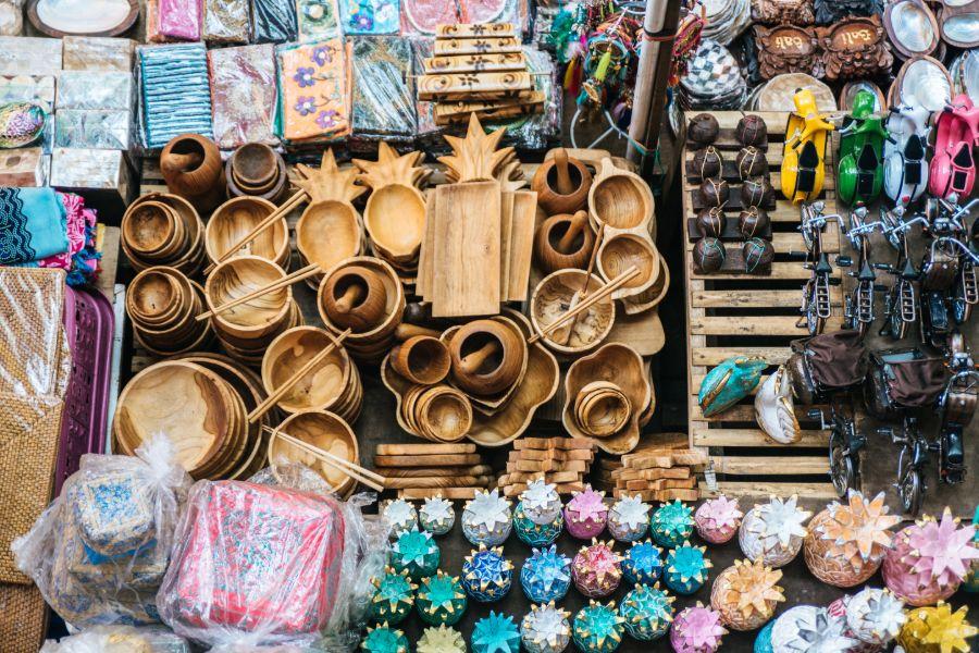 Indonesie Bali Ubud souvenirs
