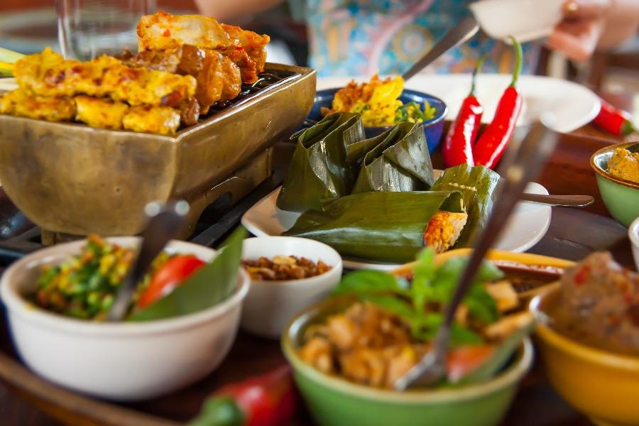 Indonesie Bali indonesische gerechten.