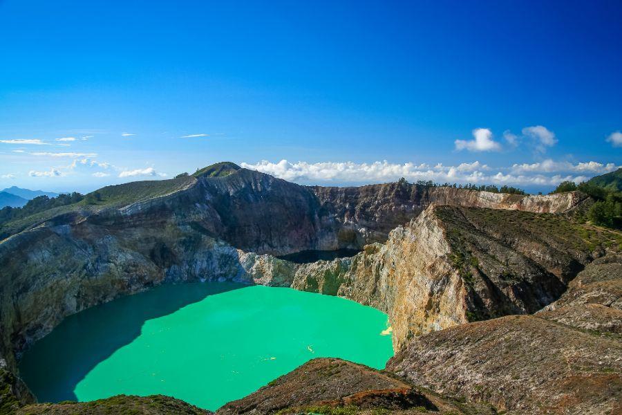 Indonesie Flores Kelimutu vulkaan krater meer