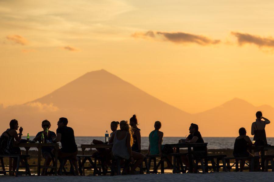 Indonesie Gili Trawangan zonsondergang